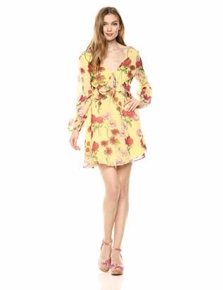 BB Dakota Womens Botanical bae Printed Chiffon Dress