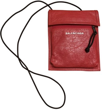 Balenciaga Red Leather Bags