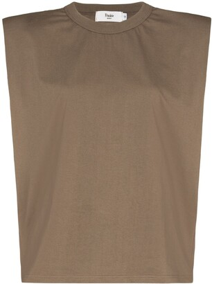 Frankie Shop Eva padded shoulder T-shirt