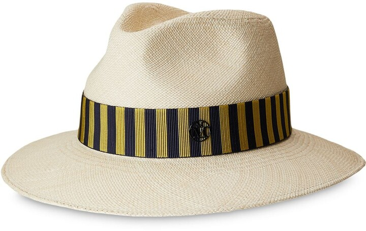 Maison Michel Rico stripe-band sun hat