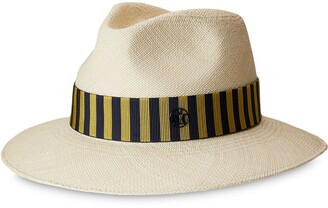 Maison Michel Rico stripe-band sun hat