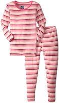 Kickee Pants Print Pajama Set (Toddler/Kid) - Forest Stripe - 6 Years