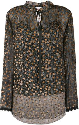 See by Chloe Embroidered Sheer Blouse
