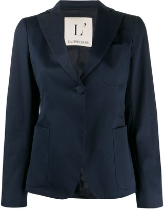L'Autre Chose One-Button Fitted Blazer