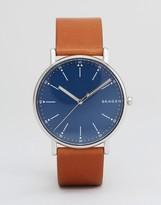 Skagen SKW6355 Signature Leather Watch In Brown