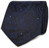 Black Tie Blue Paisley Print Tie