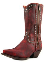 Dan Post Studded Cowgirl Square Toe Leather Western Boot.