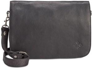 Patricia Nash Vito Smooth Leather Flap Crossbody