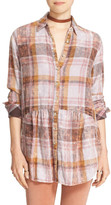 Free People Easy Street Cotton Plaid Tunic