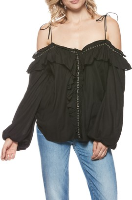 Paige Journee Off-the-Shoulder Long Sleeve Ruffled Blouse