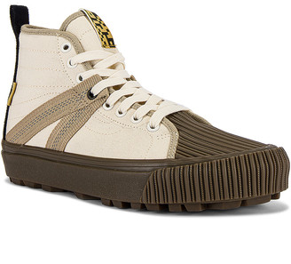 Vans x Taka Hayashi Sk8-Hi Decon V Lug LX in Natural & Dark Gum | FWRD