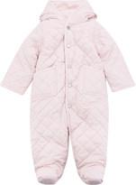 Ralph Lauren Girls Hint Of Pink Quilted Soft Bodysuit 3-9 Months