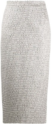 Alessandra Rich Woven Pencil Skirt