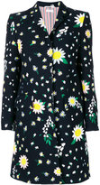 Thom Browne floral motif coat - women - Silk/Cotton - 38