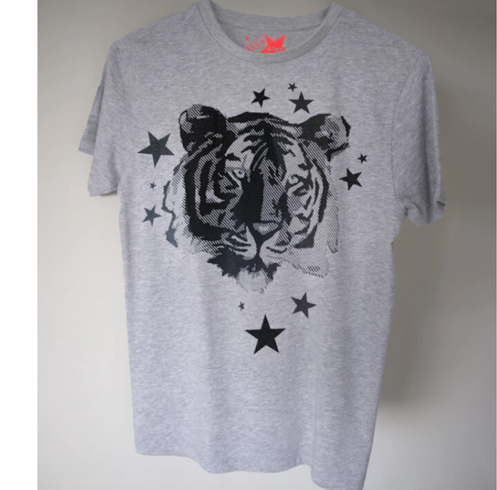 Thumbnail for your product : Margaux Grey Teen Tiger Print Tee