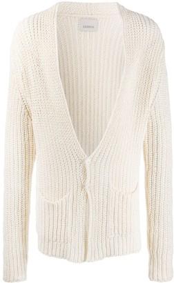 Laneus Open Knit Mid-Length Cardigan