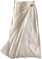 Genny White Silk Skirt for Women