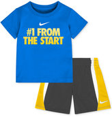 "Nike Baby Boys' ""#1 From the Start"" T-Shirt & Shorts Set"