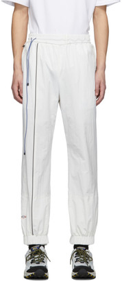 Ader Error White Graphic Print Track Pants