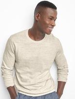 Cotton-linen crew pullover
