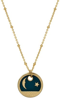 Mirabelle Jewellery Moon Star Enamel Medal On Satellite Chain