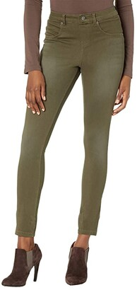 Hue Ultra Soft Denim High-Rise Leggings (Faded Forest) Women's Casual Pants
