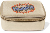 Anya Hindmarch Phwoar!!! Metallic Textured-Leather Cosmetic Case