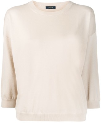 Peserico 3/4 Sleeves Crew-Neck Pullover