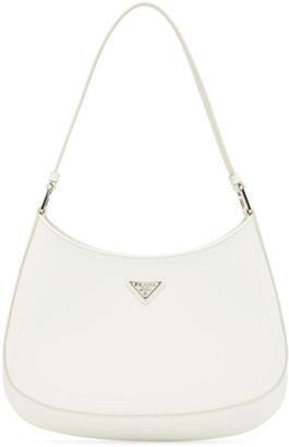 Prada White Patent Cleo Bag