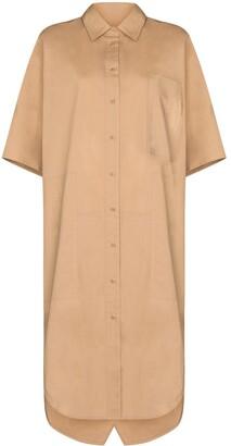 Lee Mathews Knee-Length Cotton Shirt Dress