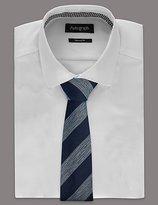 Wool Rich Striped Tie
