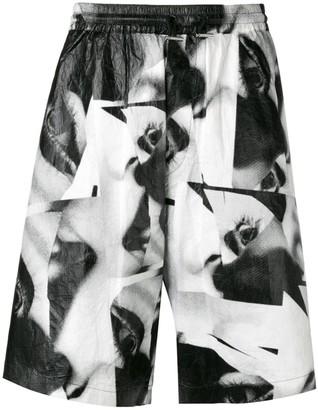 DSQUARED2 eye print shorts