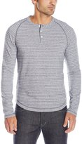 Original Penguin Men's Long Sleeve Lightweight French Terry Henley Shirt