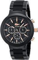 Lacoste Men's 2010769 Borneo Analog Display Japanese Quartz Black Watch