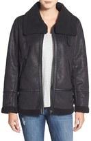 Steve Madden Women's Faux Shearling Aviator Jacket