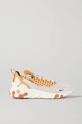 Nike React Sertu Leather, Nubuck And Canvas Sneakers - Beige