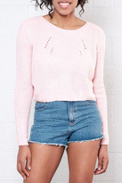 Moon Collection Cropped Knit Sweater