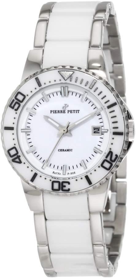 Pierre Petit Women's P-808B Serie Colmar Stainless-Steel and Ceramic Bracelet Date Watch
