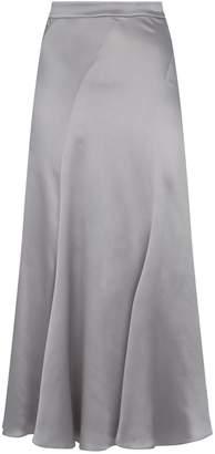 Alberta Ferretti Silk Slip Midi Skirt