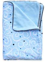 Caden Lane Luxe Light Blue Swirl Blanket