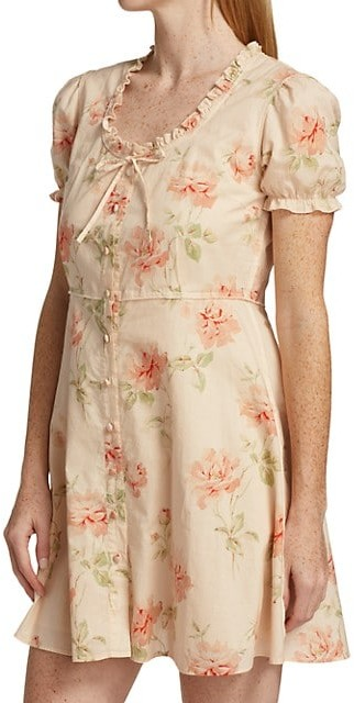 Thumbnail for your product : R 13 Floral Print Babydoll Dress