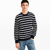 Club Monaco Striped Cable Crew Sweater