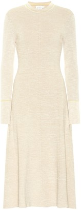Victoria Beckham Cotton-blend midi dress