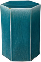 Jamie Young Company Porto Side Table, Azure Ceramic, Large