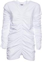 MSGM Ruched Detail T-Shirt