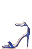 Quiz Blue Diamante Barely There Heel Sandals