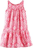 Osh Kosh Print Maxi Dress (Baby) - Pink/White-24 Months
