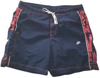 Nike Blue Polyester Swimwear