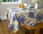 English Foral Tablecloth, Blue