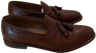 Brunello Cucinelli Brown Leather Flats